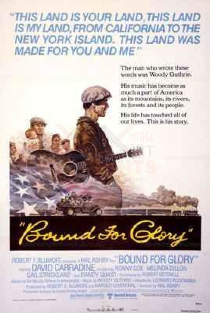 Bound for Glory - Original Movie Poster, - Vintage Art, canvas prints