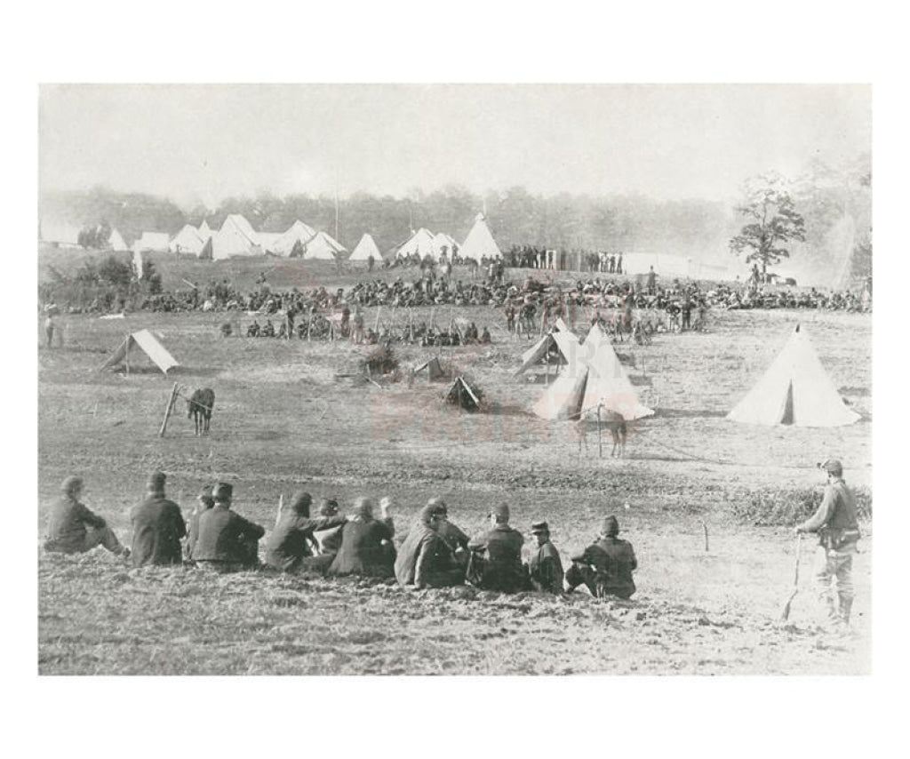 Camp of Confederate Prisoners, American Civil War, Photographic Print - Vintage Art, canvas prints