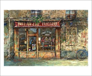 Bakery - Patisserie, Art print - Vintage Art, canvas prints