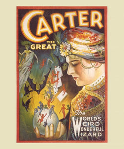 Carter the Great - The World's Weird Wonderful Wizard, Magic, digital Giclee Art Print reproduction - Vintage Art, canvas prints