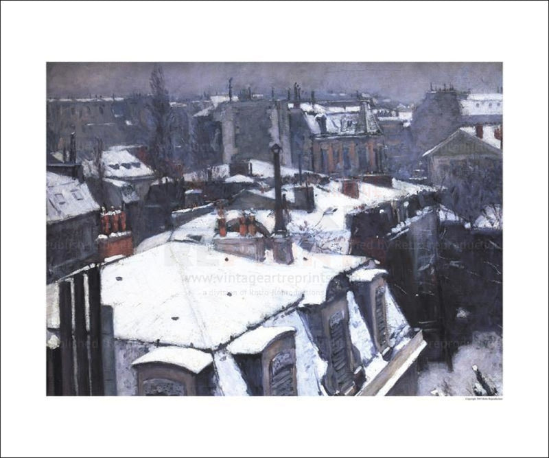 Toits sous la Neige - Vintage Art, canvas prints