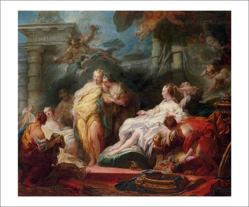 Psyche and her sisters - Vintage Art canvas prints Jean Honore Fragonard