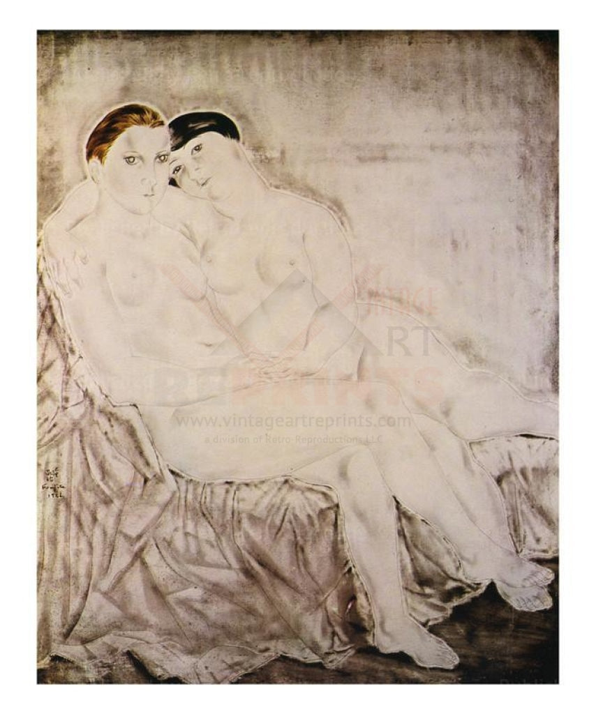 Les deux amies, 1926 - Vintage Art, canvas prints