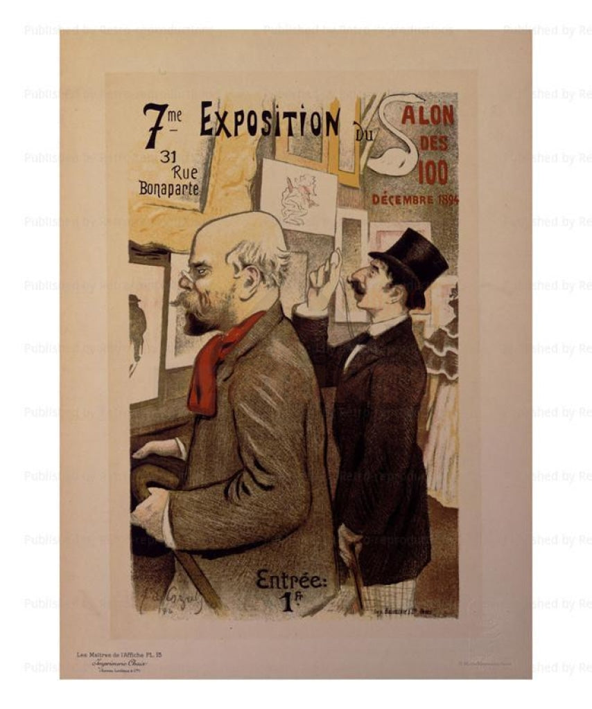 Canvas prints, 7eme Exposition - J.A.Cozals  Les Maitres de l'Affiche - Vintage Art, canvas prints