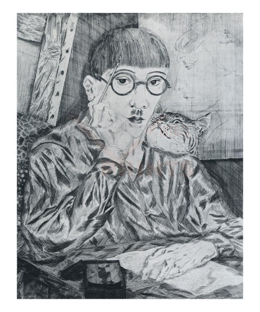 Autoportrait, 1917, Foujita, Art print - Vintage Art, canvas prints