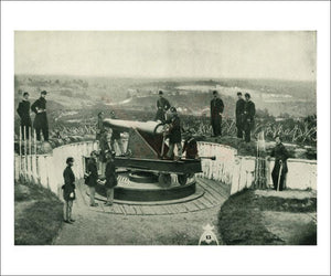 Defense of Fort Totten, Civil War, Photographic Print - Vintage Art, canvas prints