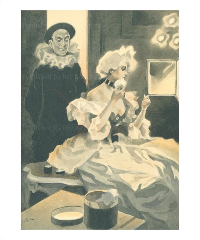 Femme de Theatre 9 - Vintage Art, canvas prints
