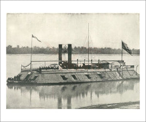 First Iron Clad Gunboat - Vintage Art, canvas prints