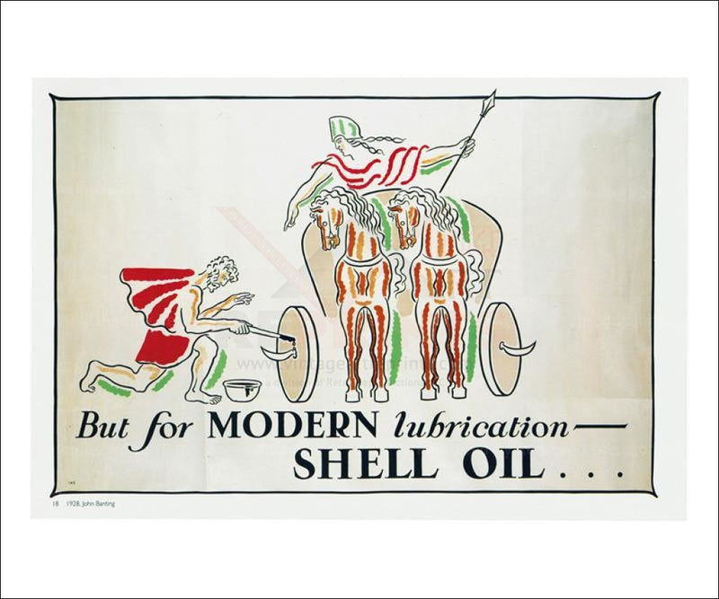 For Modern Lubrication 1928 - Vintage Art, canvas prints