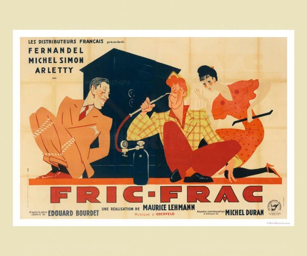 Fric-Frac - Vintage Art, canvas prints