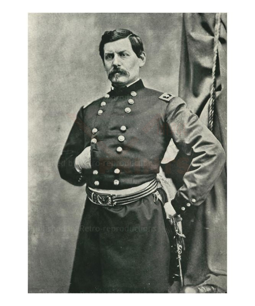 General George B. McClellan - Vintage Art, canvas prints