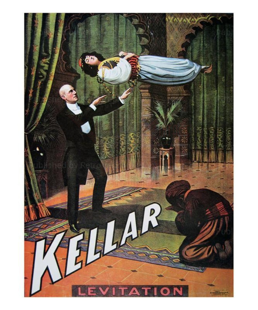 Kellar La levitation, 1904 - Vintage Art, canvas prints