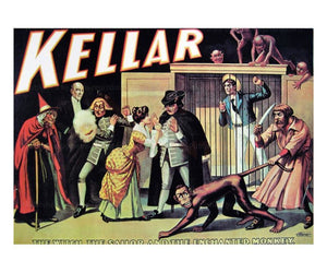 Kellar The Witch, the Sailor and the Enchanted Monkey - Magic reproduction print - Vintage Art, canvas prints