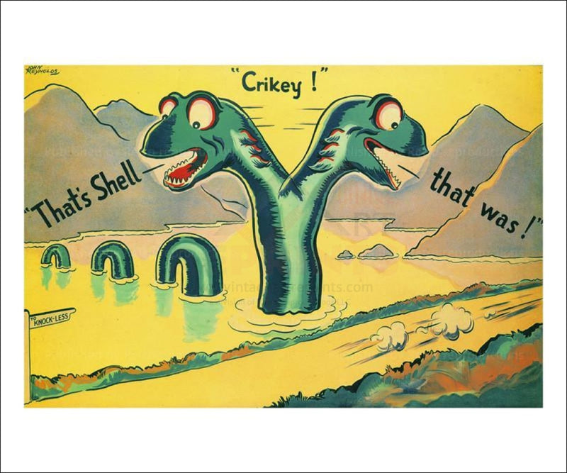 Knock-Less Loch Ness 1933 - Vintage Art, canvas prints
