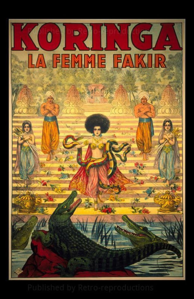 Koringa #1, French Woman Magician - Art Print - Vintage Art, canvas prints