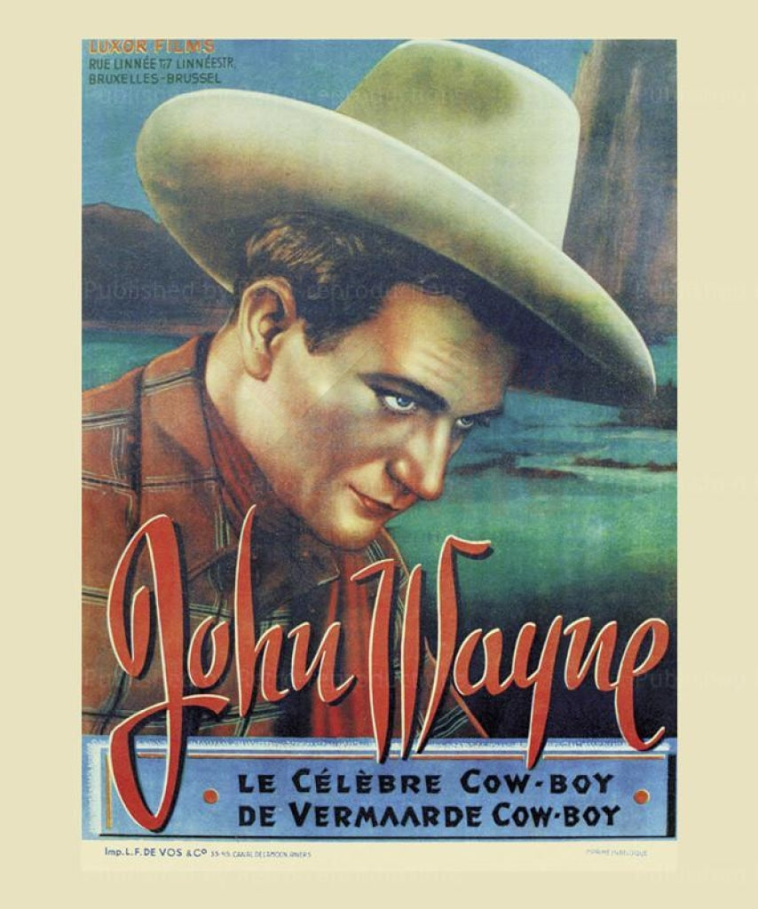 Le Celebre Cow-boy - Vintage Art, canvas prints