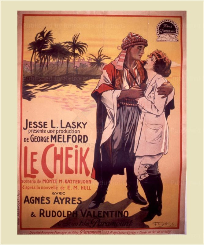 Le Cheik - Vintage Art, canvas prints