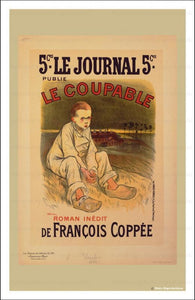 Le Coupable - Theophile Alexandre Steilen, Les Maitre de l'Affiche, vintage art print reproduction - Vintage Art, canvas prints