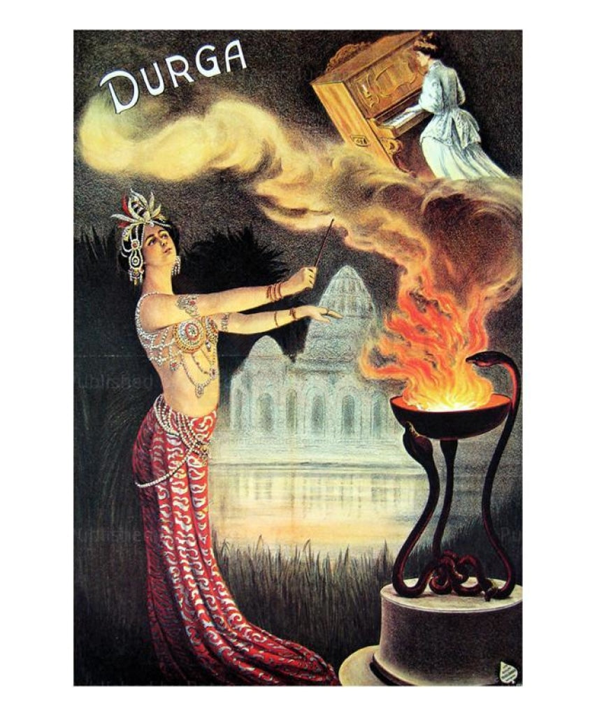 Magician, Durga, 1905 - Vintage Art, canvas prints