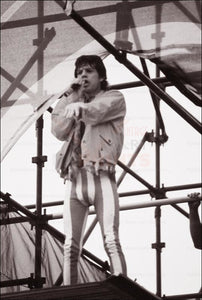 Mike Jagger Paris concert 1991, photographic print - Vintage Art, canvas prints