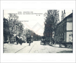 Paris suburb, vintage art photo print reproduction - Vintage Art, canvas prints