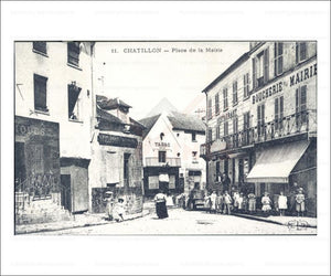 Paris suburb, vintage photo art print reproduction - Vintage Art, canvas prints