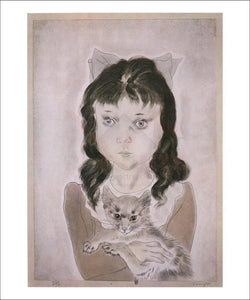 Petite fille avec un chat, 1929 - Vintage Art, canvas prints