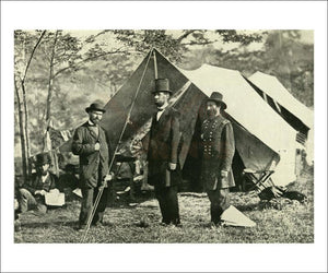 Pinkerton, Lincoln and McClernand - Vintage Art, canvas prints