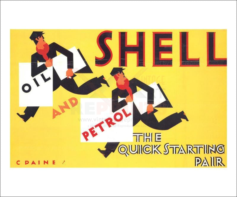 Quick Start Running Oil and Petrol Men 1928 - Vintage Art, canvas prints
