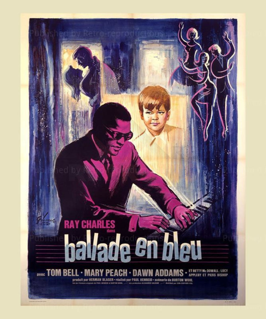 Ray Charles, Ballade in Blue, Original movie poster - Vintage Art,