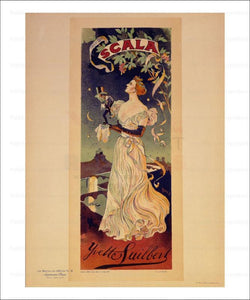 Scala, Yvette Guilbert, Les Maitre de l'Affiche, vintage art print reproduction - Vintage Art, canvas prints