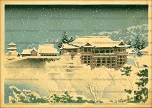 Temple Kiyomizu in Kyoto - Vintage Art, canvas prints