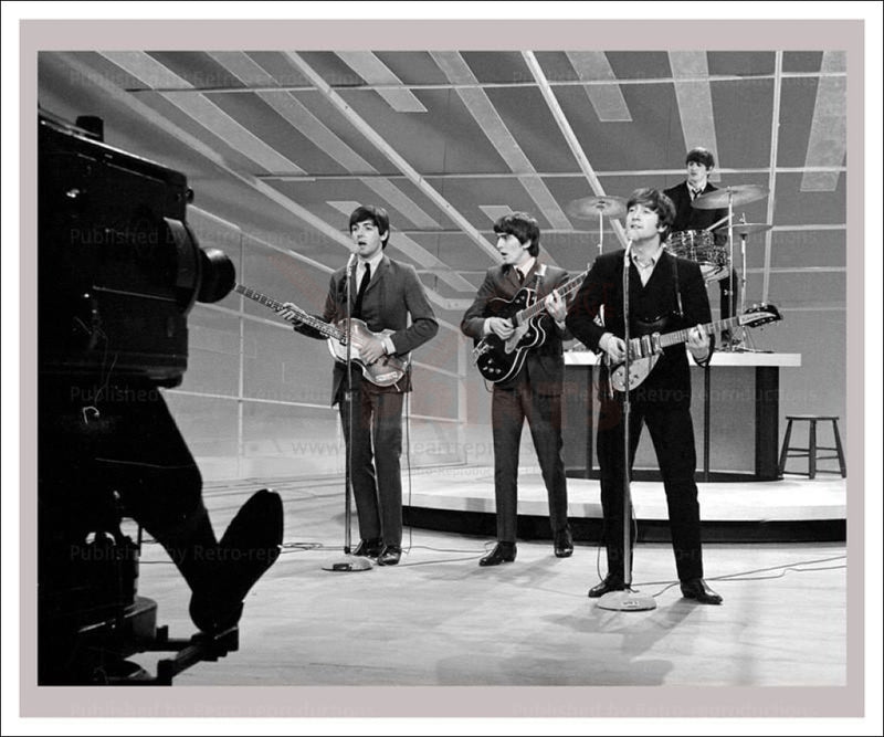 Vintage photo Beatles playing I VintageArtReprints