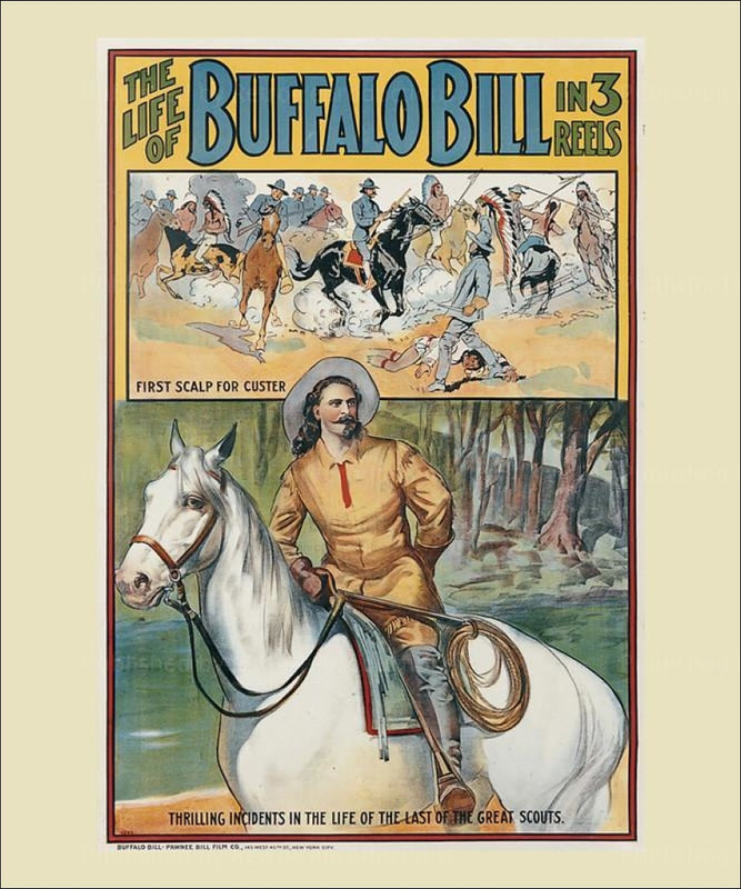 The Life of Buffalo Bill - Vintage Art, canvas prints