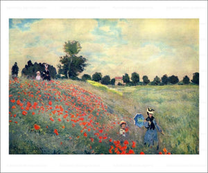 The Red Poppies 1873 - Vintage Art, canvas prints