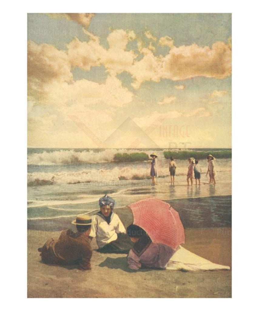 The Sands of Summertime - Vintage Art, canvas prints