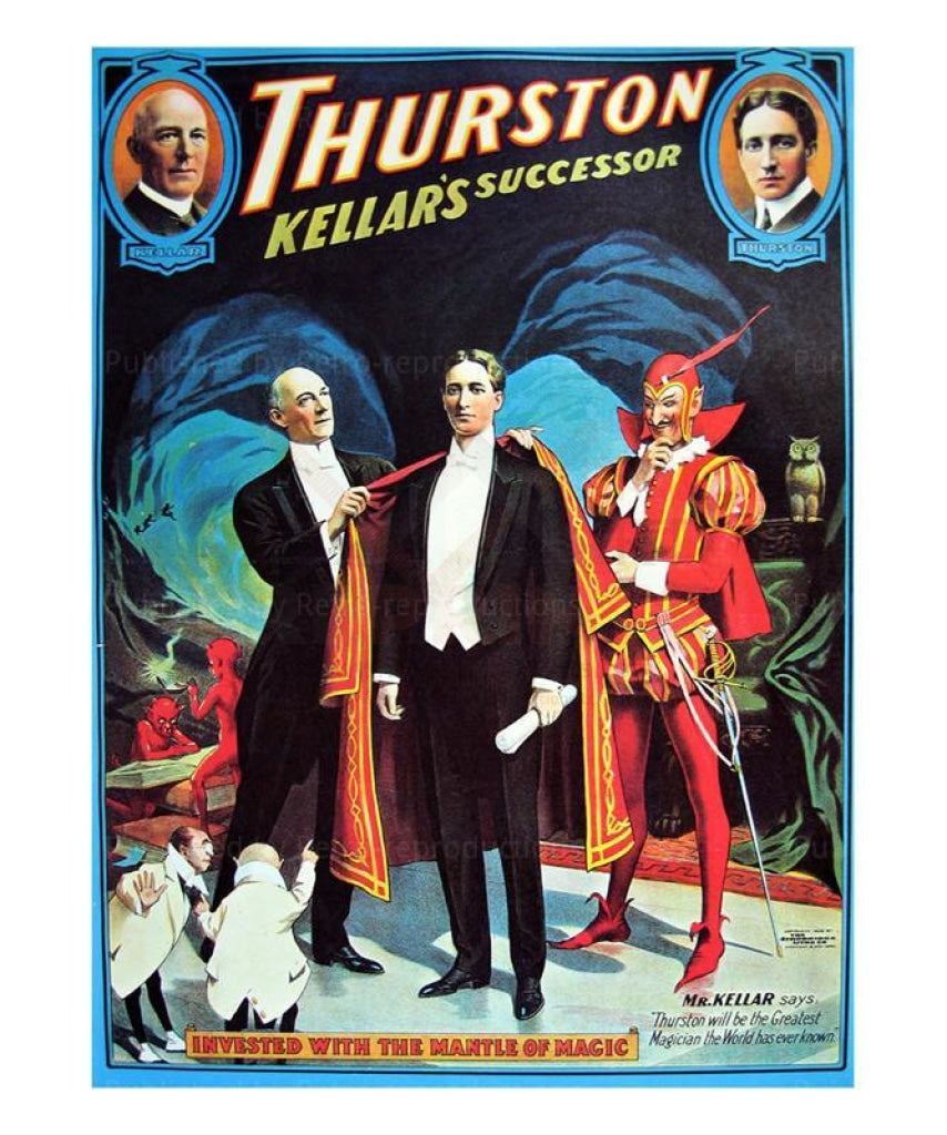 Thurston, le successeur de Kellar - Vintage Art, canvas prints