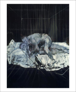 Two personages, 1953, by Francis Bacon, art print - Vintage Art,