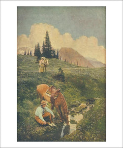 Upland Riders, vintage art print reproduction - Vintage Art, canvas prints