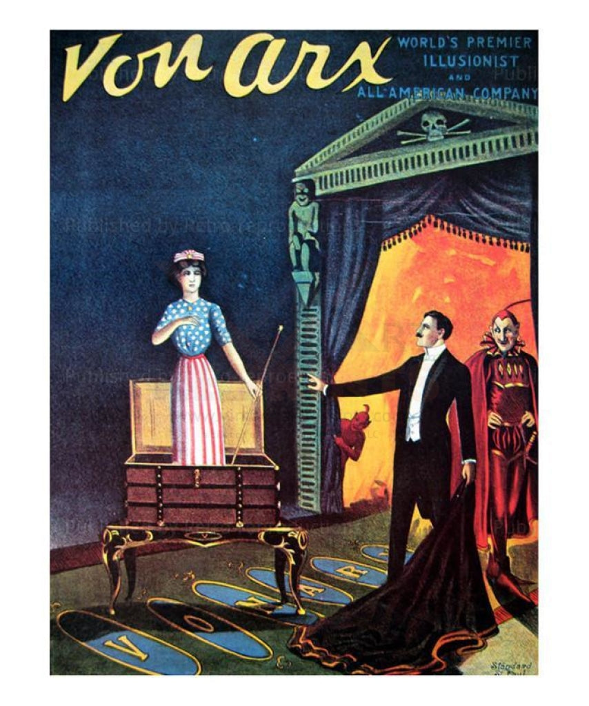 Von Arx, 1910 Magician 1910, vintage art print reproduction - Vintage Art, canvas prints
