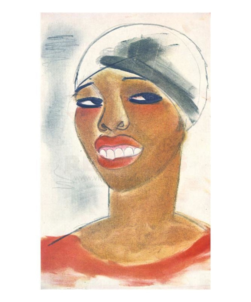 Woman with Head Wrap, vintage art print reproduction - Vintage Art, canvas prints