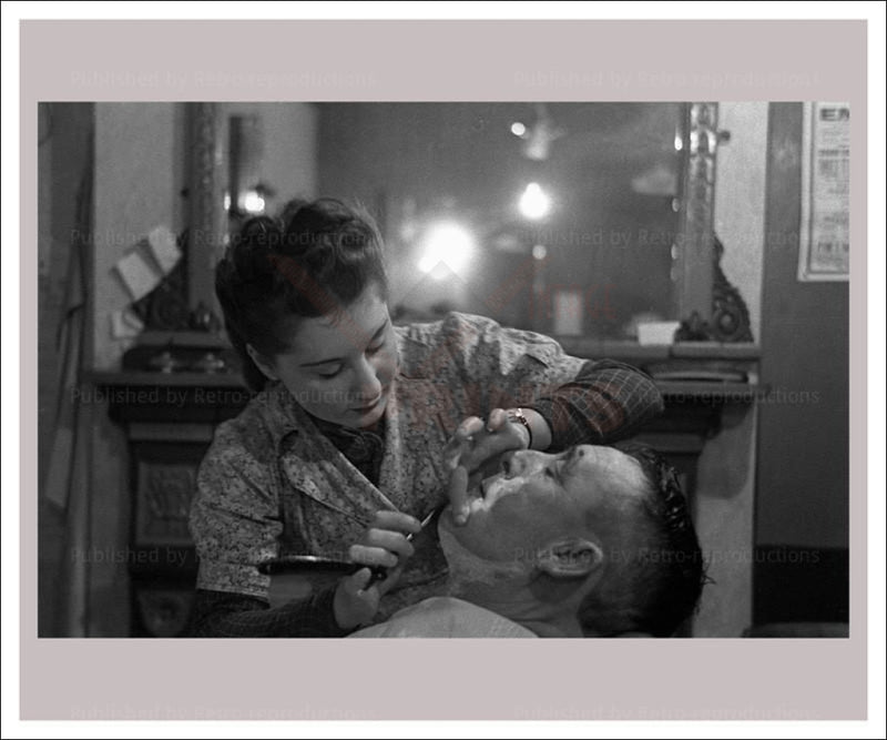 Women at War - Barbers 1 - Vintage reproduction WWII - Vintage Art, canvas prints