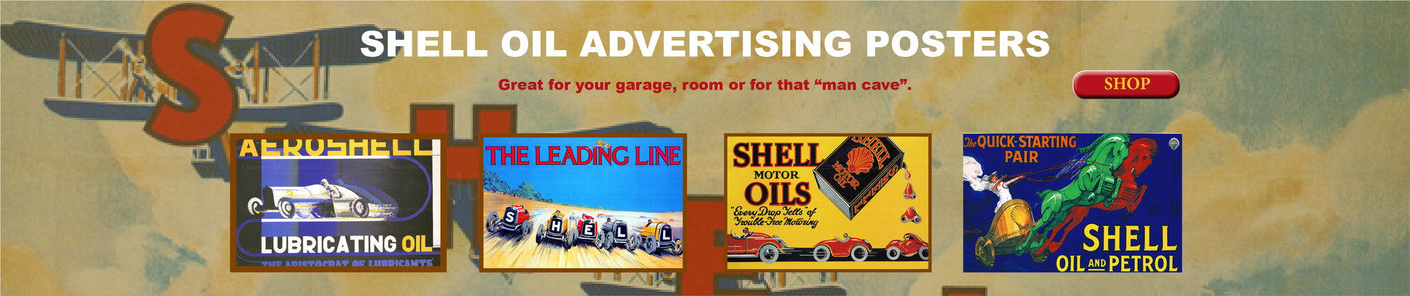 Collect Vintage Shell Oil Advertising Posters