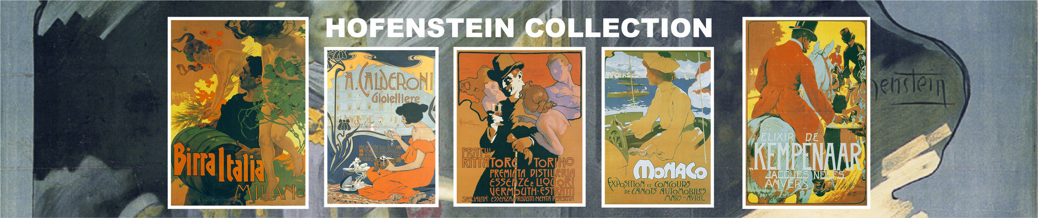 Collect all Hofenstein advertising posters