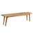 Clio Dining Bench in Light Honey Finish—Large