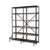 Industrial 10-Shelf Bookshelf Unit in Rustic Mango Finish
