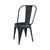 Industrial Dining Chair—Distressed Metal in Black