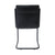 """Noha"" Leather Accent Chair in Black"