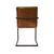 """Ava"" Buffalo Leather Accent Chair in Light Brown"