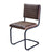 Bailie Buffalo Leather Side Chair in Brown